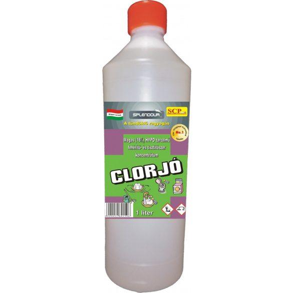 Clorjó fehérítő- és tisztítószer 1 liter, 18% hypo-tartalom