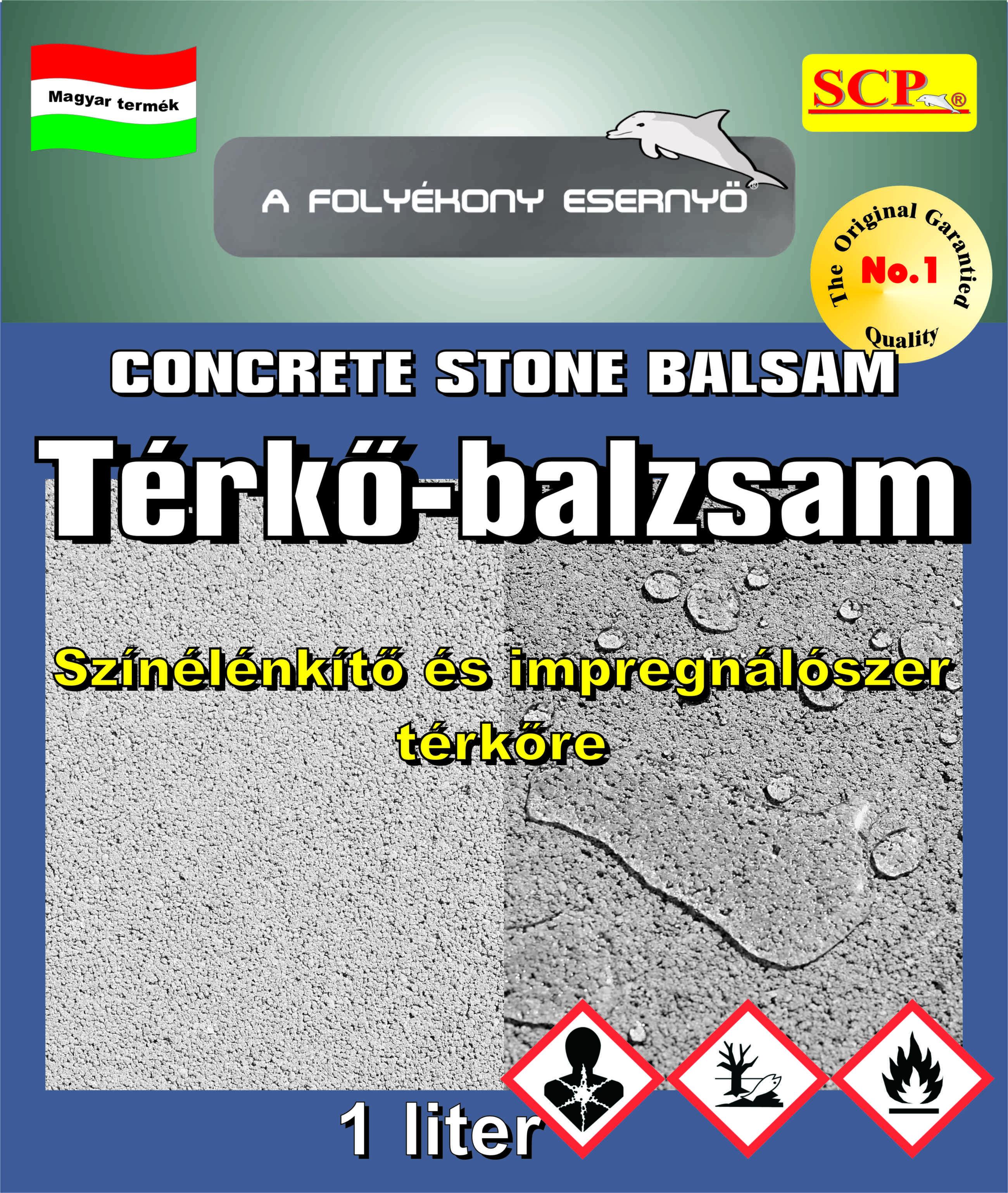 TÉRKŐBALZSAM - CONCRETE STONE BALSAM kiválóan alkalmas a régen lerakott és kifakult térkövek színének élénkítésére és impregnálására.